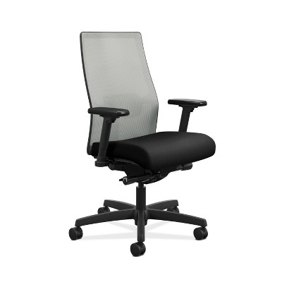 2.0 Ignition Mid Back Adjustable Lumbar Work Chair Black - HON