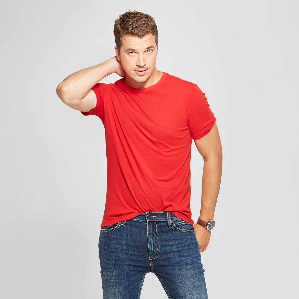 Men's Slim Fit Short Sleeve Crew T-Shirt - Goodfellow & Co Ripe Red 2XL
