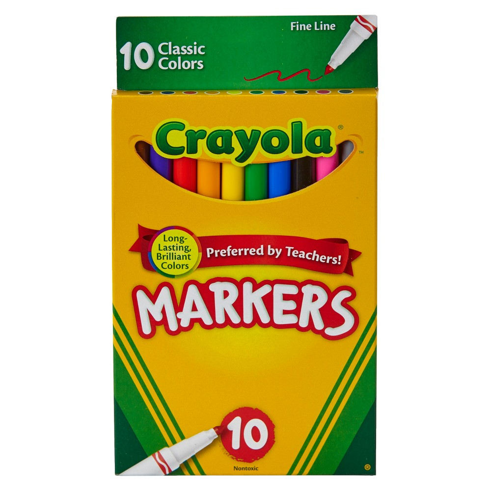 Crayola 10ct Fine Line Markers Classic Colors was $2.39 now $0.99 (59.0% off)