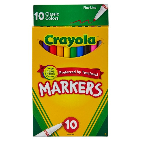 Crayola Markers Fine Line 10ct Classic - image 1 of 3