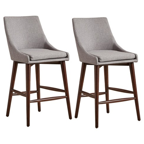 Sullivan Mid Century Barrel Back Counter Chair (Set Of 2) - Smoke - Inspire Q - image 1 of 6