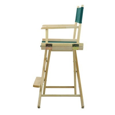 Director's Chair Counter Height Canvas Hunter Green/Natural Flora Homes
