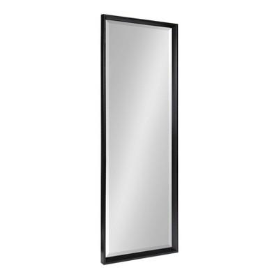 "17.5"" x 49.5"" Calter Full Length Wall Mirror Black - Kate and Laurel"