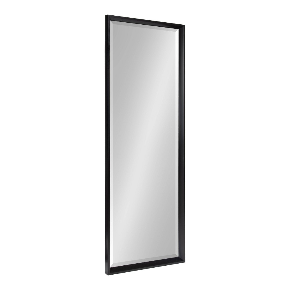 """Coupons 17.5"""" x 49.5"""" Calter Full Length Wall Mirror Black - Kate and Laurel"""