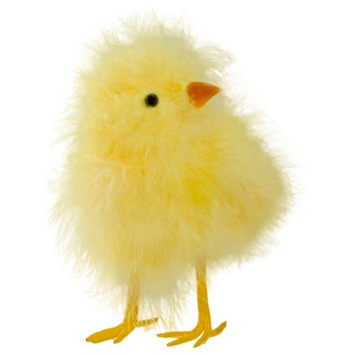 """Northlight 5"""" Furry Chick Facing Left Spring Easter Figure - Yellow"""