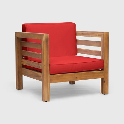 Oana Acacia Wood Club Chair - Christopher Knight Home