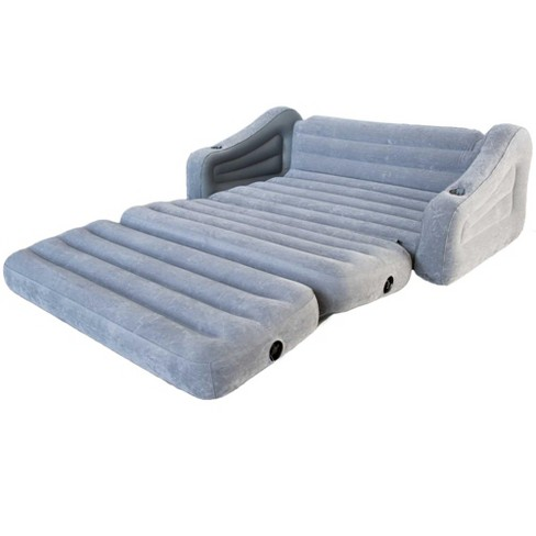 Intex Inflatable 2 In 1 Pull Out Sofa Couch And Queen Air Mattress