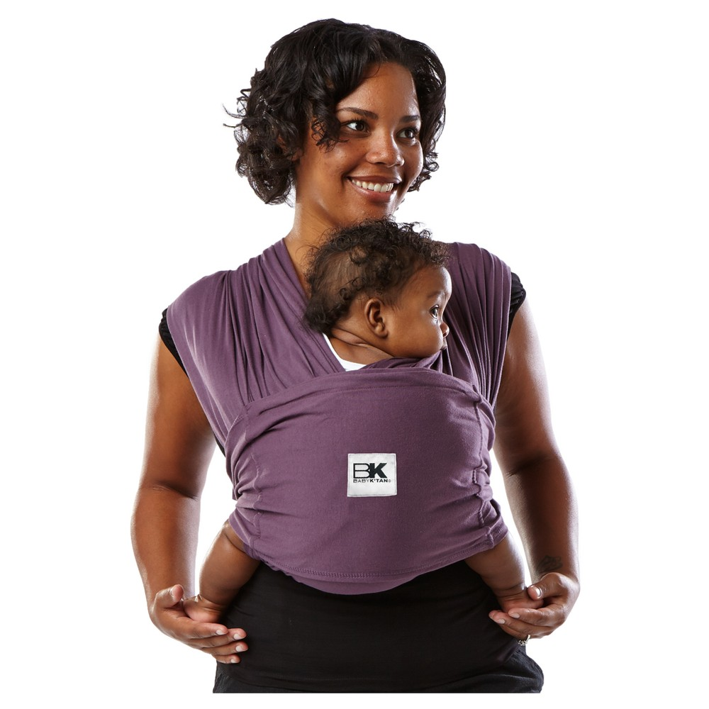 Baby K'tan Original Baby Carrier, Eggplant, Small A wrap-style baby carrier without the wrapping. The award-winning Baby K'tan Baby Carrier lets you enjoy hands-free, hassle-free, buckle-free baby wearing anytime, anywhere. This ready-to-wear cotton wrap slips on easily like a T-Shirt and is individually sized XS to XL for the perfect fit. Its patented double-loop design and unique one-way stretch delivers the security you want and the versatility you need to be on the go and snuggle your little one close. Moms can even nurse discreetly and bond through skin-to-skin care modestly. No buckling or excess wrapping to confuse or frustrate you. All Baby K'tan Baby Carriers come in a matching carry bag that converts to a sash which provides added support for certain positions in your Baby K'tan Baby Carrier. Size: S.