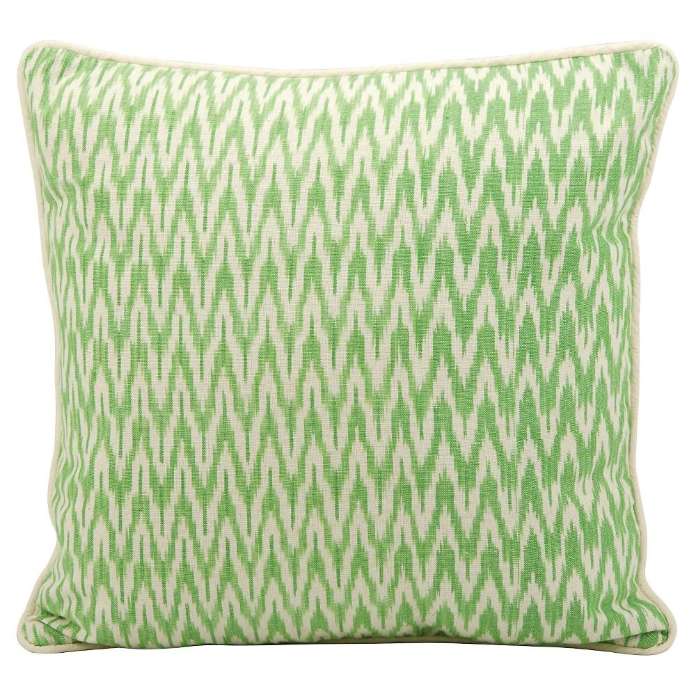 "Image of ""Lime (Green) Ikat Throw Pillow (18""""x18"""") - Nourison"""