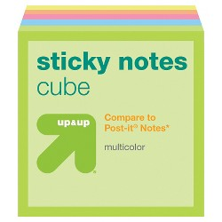 Sticky Notes Cube 1 7/8'' x 1 7/8'' Multicolor - Up&Up™