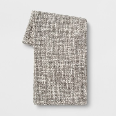 Basketweave Chenille Throw Blanket Gray - Threshold™