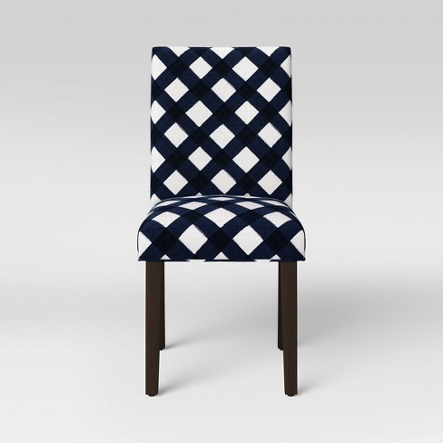 Parsons Dining Chair Buffalo Check Navy - Threshold™ - image 1 of 5