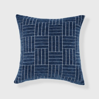 Staggered Striped Chenille Woven Jacquard Square Throw Pillow - freshmint