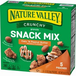 Nature Valley Crunchy Oats 'N Peanut Butter Granola Snack Mix - 5ct