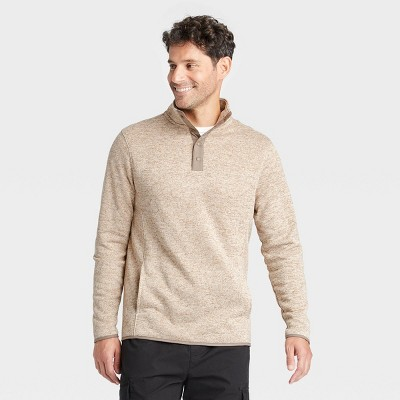 Men's Standard Fit 1/4 Snap Sweatshirt - Goodfellow & Co™