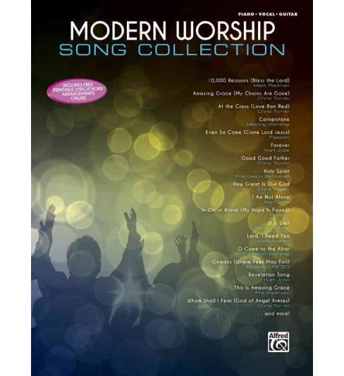 Modern Worship Song Collection : Piano/Vocal/guitar (Paperback) - image 1 of 1