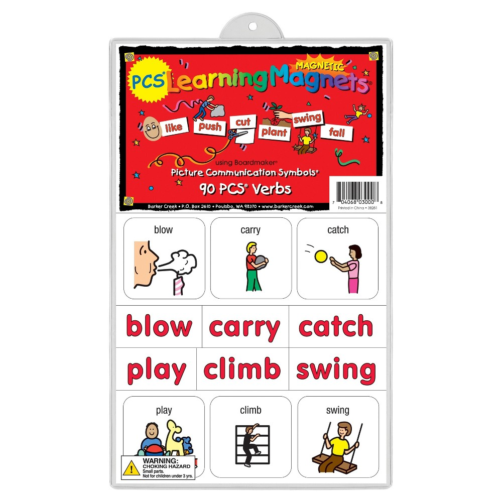 Image of Barker Creek Learning Magnets - 90pc Verbs