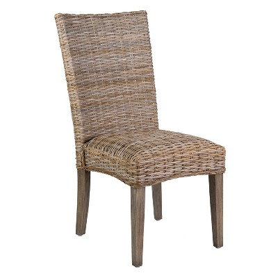Set of 2 Carina Rattan Dining Chair Brown - East At Main