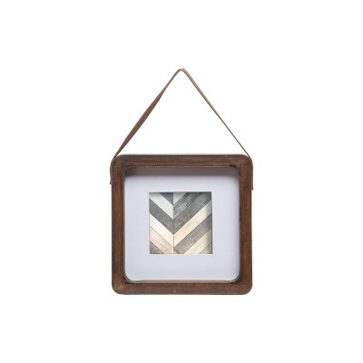 Natural Wood 4 x 4 inch Decorative Wood Hanging Picture Frame - Foreside Home & Garden