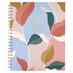 "2020 Clear Poly Planner 11.5""x 8.5"" Leaves - Create & Cultivate"
