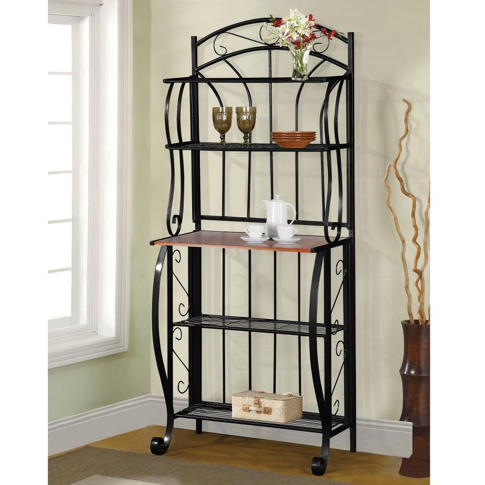 Baker's Rack - Black/Brown - Home Source Industries