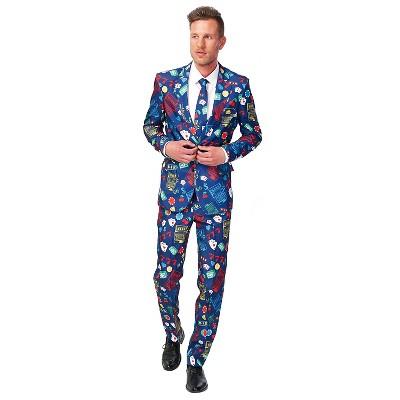 Men's Casino Slot Machine Suit Costume