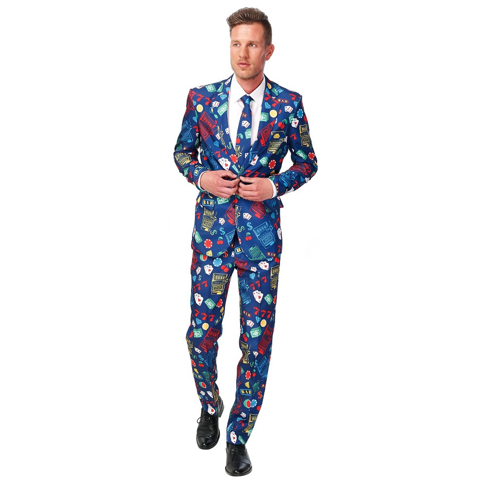 Image of Halloween Men's Casino Slot Machine Suit Costume Medium