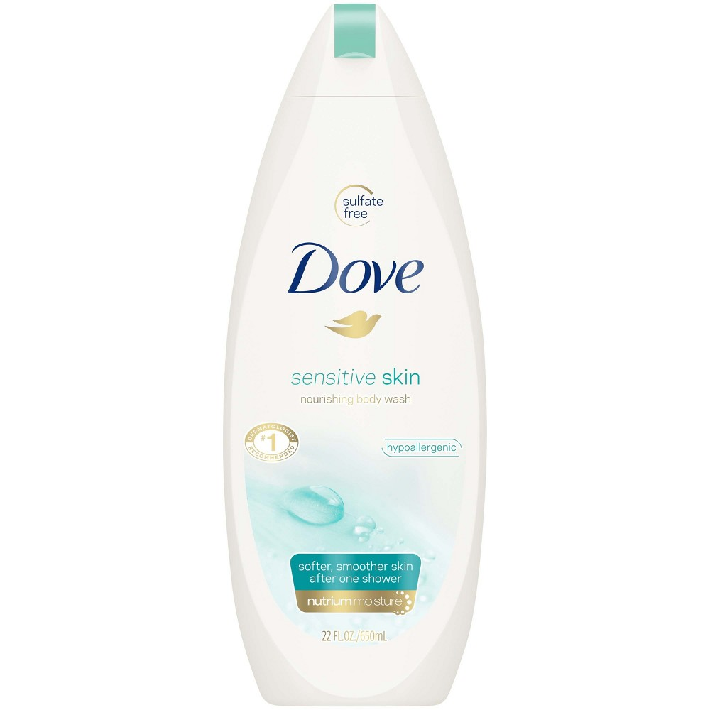 Dove Sensitive Skin Body Wash - 22oz