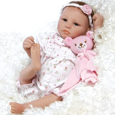 Paradise Galleries Lifelike & Realistic Newborn Reborn Baby Doll, Bundle of Joy, 18-inch Weighted Baby in GentleTouch Vinyl, 5-Piece Set