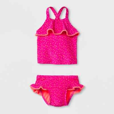 Baby Girls' Shapes Tankini Set - Cat & Jack™ Pink 9M