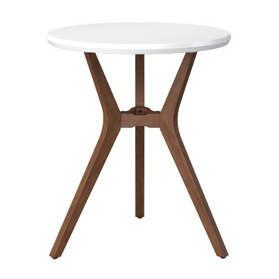 "28"" Emmond Mid-Century Modern Round Bistro Dining Table White - Project 62™"