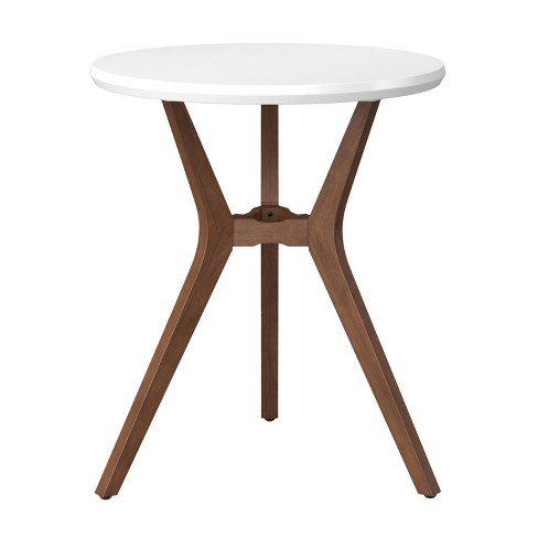 28 Round Bistro Table White