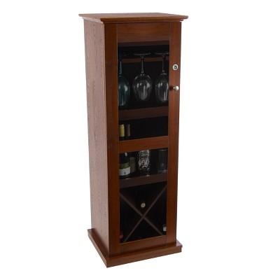 Herrin Locking Bar Cabinet Chestnut - Atlantic