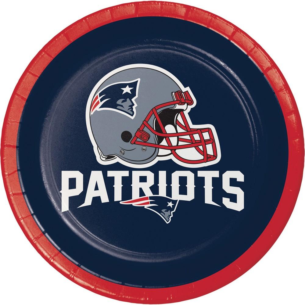 24ct New England Patriots Dessert Plates Navy (Blue)