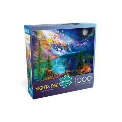 Buffalo Games Night & Day: Lake Moraine Journey Jigsaw Puzzle - 1000pc
