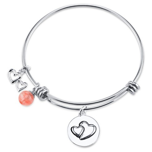 "Women's Stainless Steel Always sisters always there expandable bracelet - Silver (8"") - image 1 of 2"