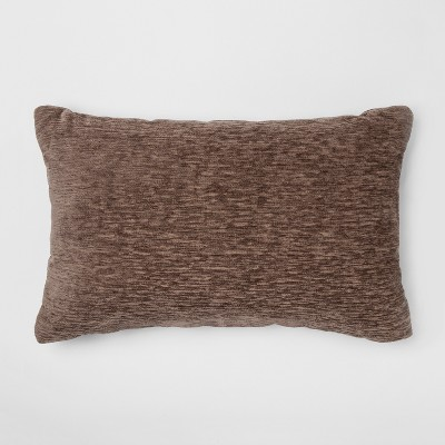 Solid Chenille Lumbar Throw Pillow Brown - Threshold™