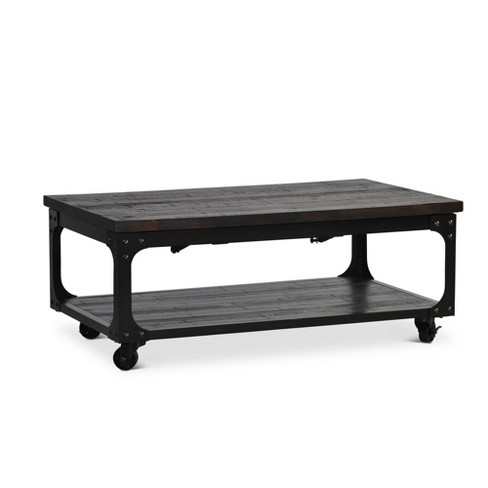 Sherlock Lift Top Tail Table With Casters Antiqued Steve Silver Target