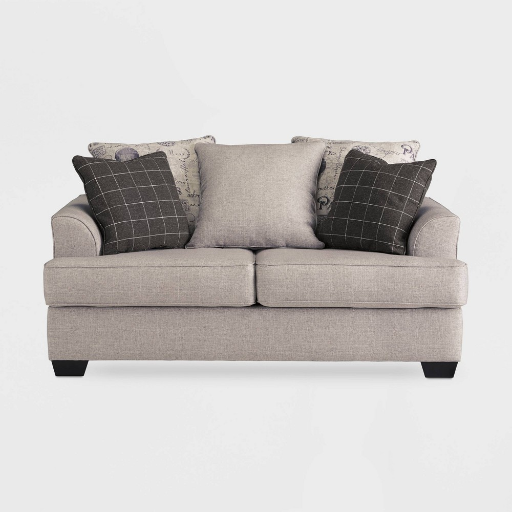 Velletri Loveseat Oatmeal Gray - Signature Design by Ashley