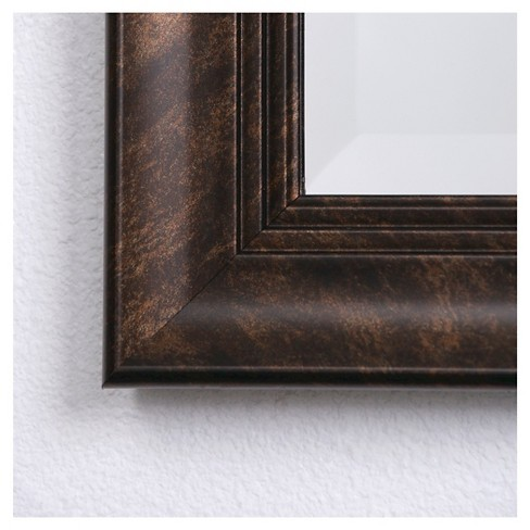 Rectangle Decorative Wall Mirror With Deep Bronze Borders Yosemite