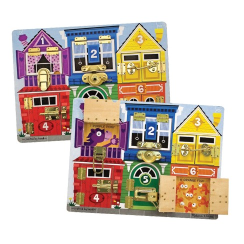 Melissa & Doug® Latches Wooden Activity Board - image 1 of 3