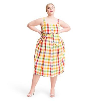 Plaid Wide Strap Tie Waist Dress - Christopher John Rogers for Target