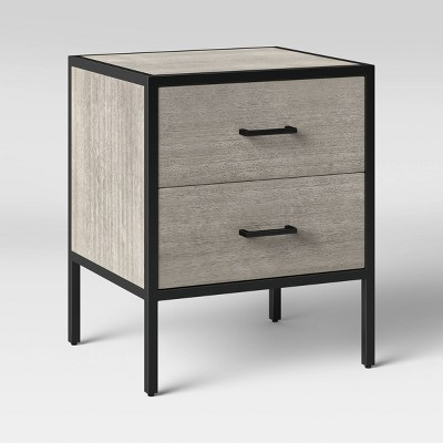 Hilltop Nightstand with Drawers Gray - Project 62™