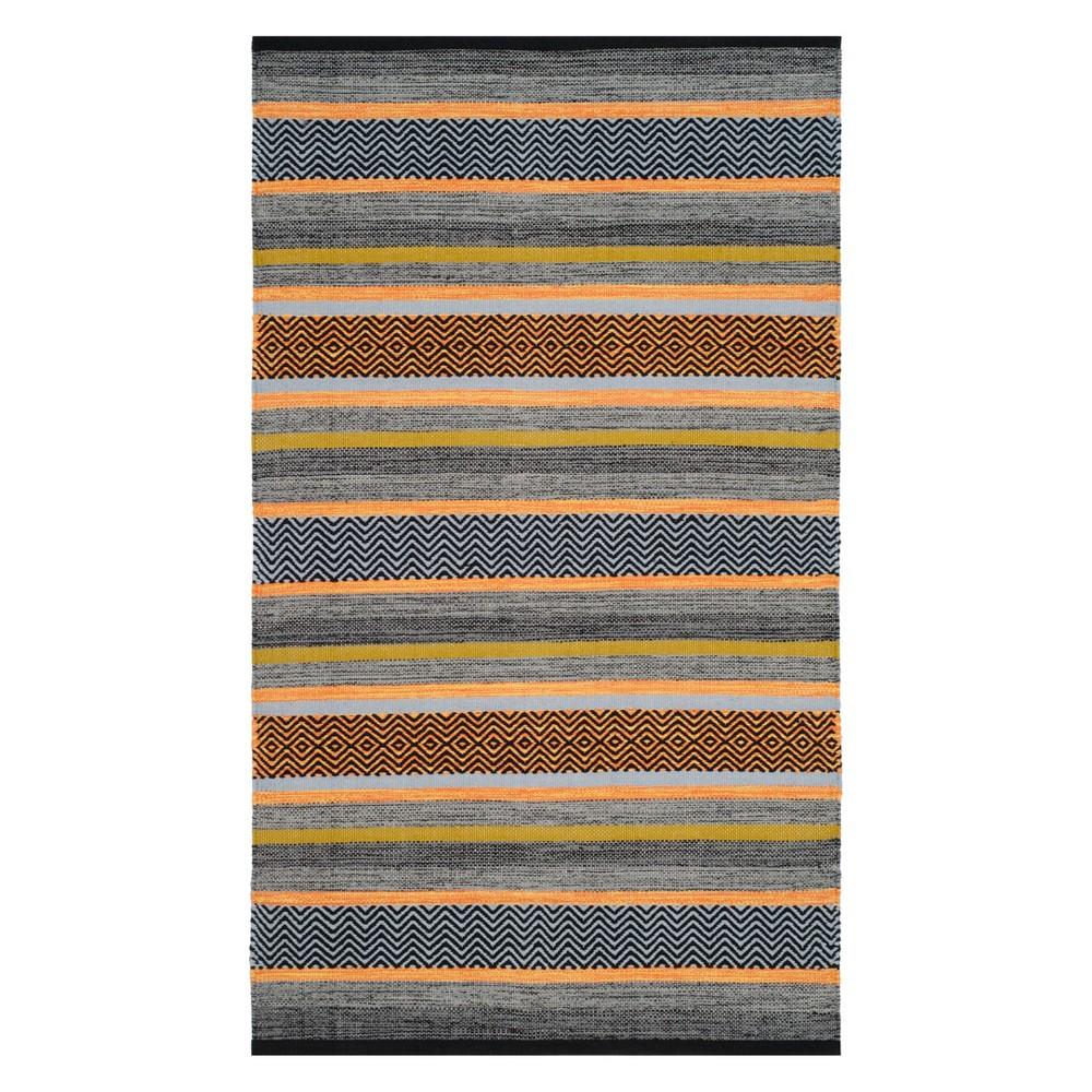 3X5 Stripe Woven Accent Rug Navy - Safavieh Price