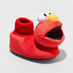 Toddler Boys' Elmo Bootie Slippers - Red