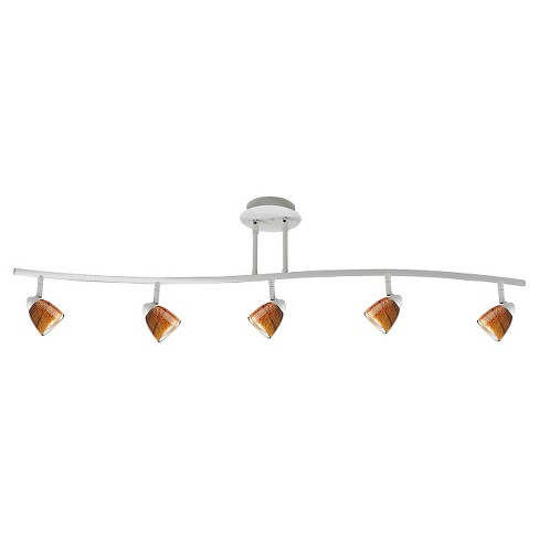 Cal Lighting Metal White Serpentine Pendant with 5 Adjustable heads - image 1 of 1