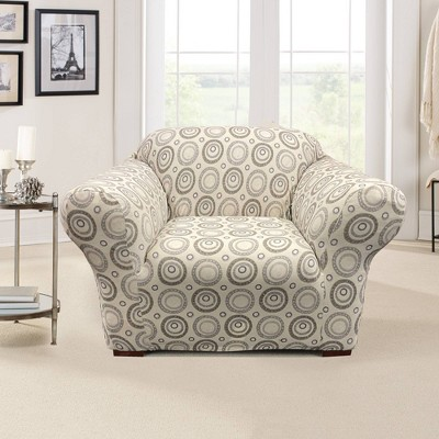 Stretch Printed Velvet Circle Chair Slipcover - Sure Fit