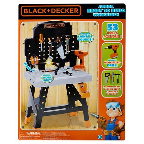 Stupendous Black Decker Junior Workshop Set Kids Pretend Play Drill Ibusinesslaw Wood Chair Design Ideas Ibusinesslaworg