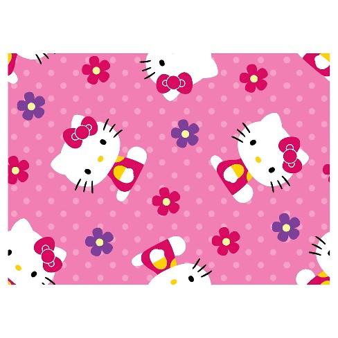 Hello Kitty Flowers & Dots Fleece Fabric - image 1 of 1