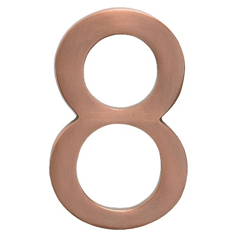 "Architectural Mailboxes 5"" House Number 8 - Antique Copper - image 1 of 2"